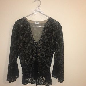 Used Cache Women's black Top